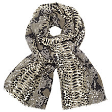 Buy John Lewis Cobra Print Scarf, Taupe/Multi Online at johnlewis.com
