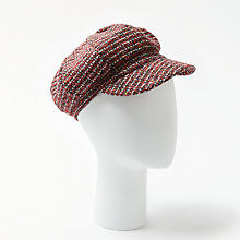 Buy John Lewis Bakerboy Wool Hat, Claret Mix Online at johnlewis.com