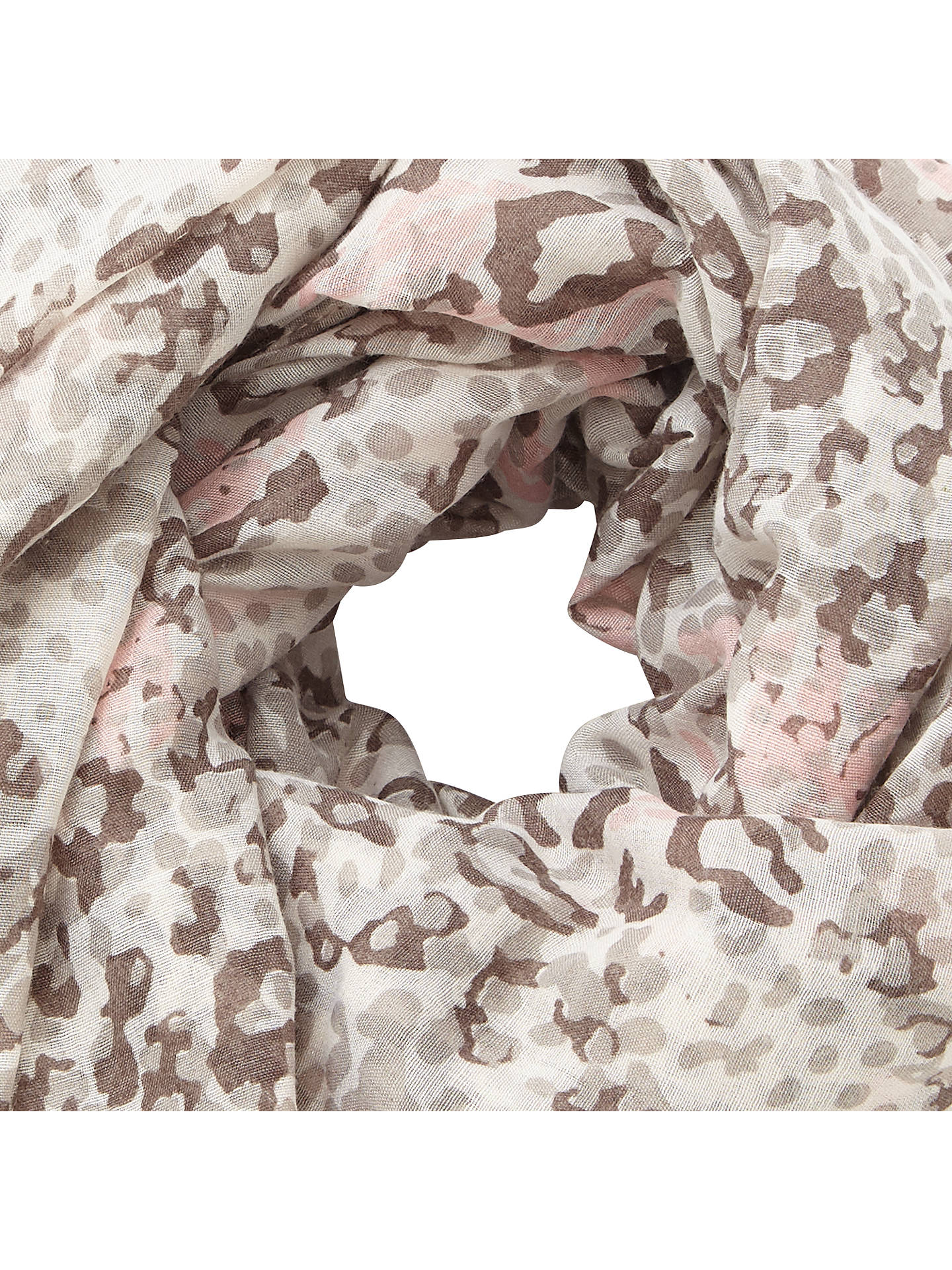 Buy John Lewis Animal Print Scarf, Grey/Multi Online at johnlewis.com