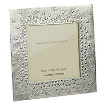 "Buy Lancaster and Gibbings Floating Hearts Frame, Silver, 3.5 x 3.5"" Online at johnlewis.com"