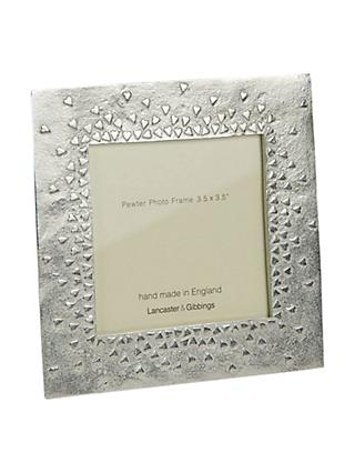 Lancaster and Gibbings Floating Hearts Photo Frame, Pewter