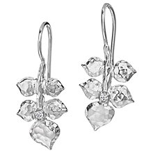 Buy Dower & Hall White Topaz Wild Rose Leaf Drop Earrings Online at johnlewis.com