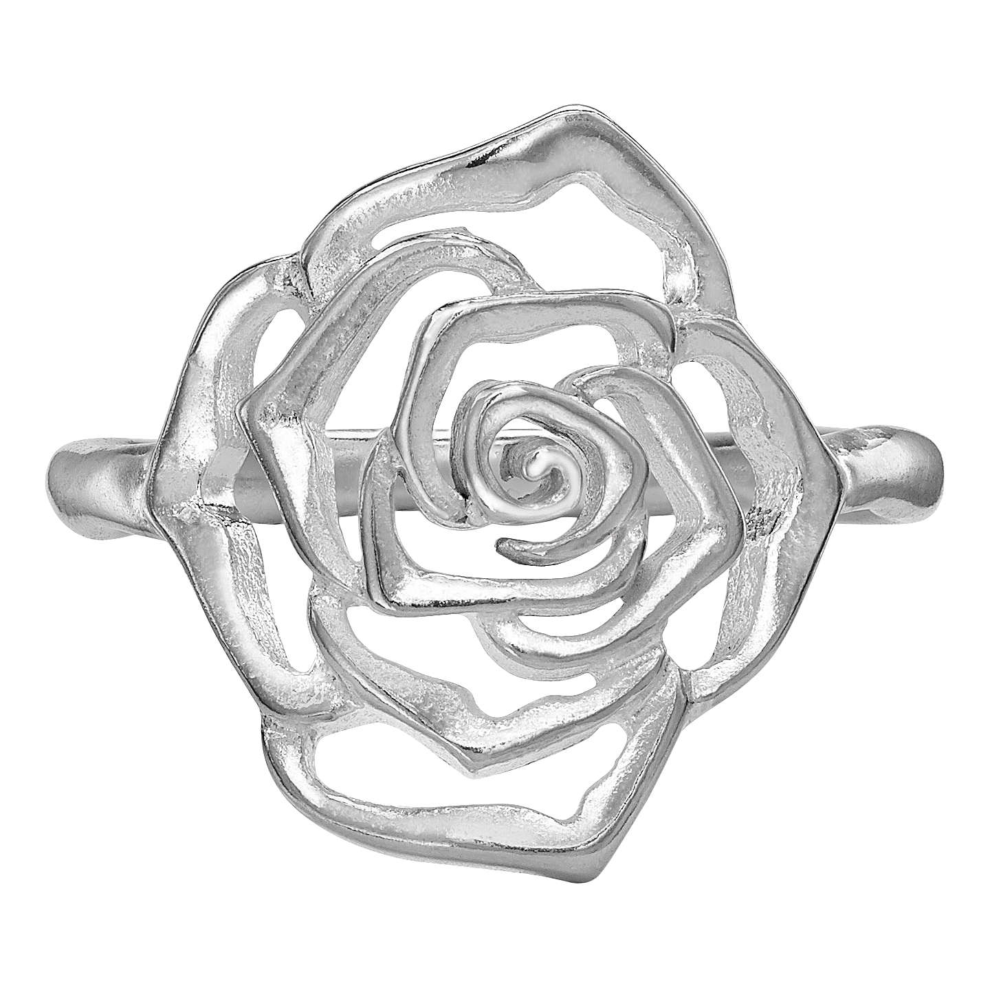 BuyDower Hall Wild Rose Flower Ring Silver Online At Johnlewis