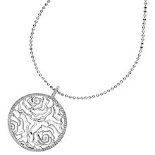 Buy Dower & Hall Wild Rose Flower Disc Pendant Necklace Online at johnlewis.com