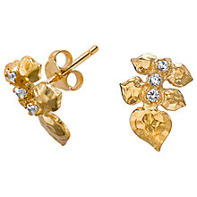 Buy Dower & Hall White Topaz Wild Rose Leaf Stud Earrings Online at johnlewis.com