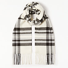 Buy John Lewis Cashmink Classic Check Scarf, Black Mix Online at johnlewis.com