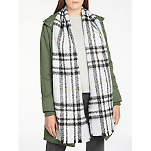 Buy John Lewis Cashmink Check Scarf, Grey/Multi Online at johnlewis.com