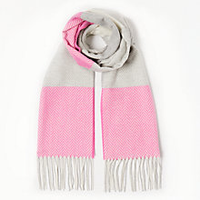 Buy John Lewis Classic Contrast Scarf, Bright Pink/Grey Online at johnlewis.com