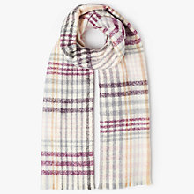 Buy John Lewis Cashmink Plaid Boucle Scarf, Cream Mix Online at johnlewis.com