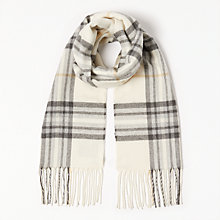 Buy John Lewis Cashmink Classic Check Scarf, Grey Mix Online at johnlewis.com