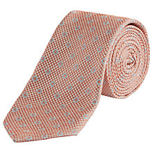 Buy Jaeger Silk Waffle Dot Tie, Peach Melba Online at johnlewis.com