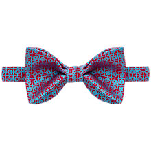 Buy Thomas Pink Rossetti Geo Woven Silk Self Tie Bow Tie, Red/Navy Online at johnlewis.com