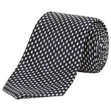 Buy Jaeger Broken Dogstooth Silk Tie, Navy Online at johnlewis.com