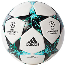 Buy Adidas UCL Finale 17 Mini Ball, Size 1, White/Blue Online at johnlewis.com