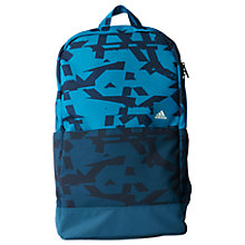 Buy Adidas Classic Graphic Backpack, Medium, Blue Online at johnlewis.com