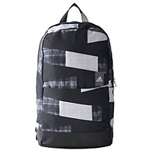 Buy Adidas Classic Graphic Backpack, Medium, Grey Online at johnlewis.com