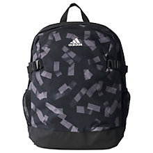 Buy Adidas Graphic Power Backpack Bag, Medium, Black Online at johnlewis.com