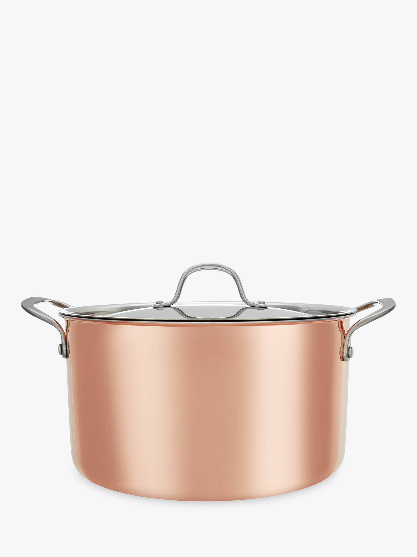 BuyCroft Collection Copper Casserole Dish, 24cm Online at johnlewis.com