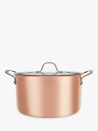 Croft Collection Copper Casserole Dish, 24cm