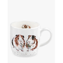 Buy Royal Worcester Wrendale Guinea Pigs Mug, Multi, 310ml Online at johnlewis.com