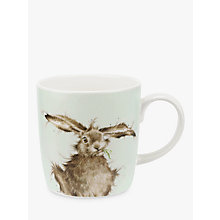 Buy Royal Worcester Wrendale Hare Brained Mug, Multi, 400ml Online at johnlewis.com