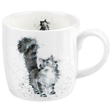 Buy Royal Worcester Wrendale Tabby Cat Mug, Multi, 310ml Online at johnlewis.com