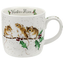 Buy Royal Worcester Wrendale Winter Mice Christmas Mug, 310ml Online at johnlewis.com