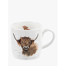 Buy Royal Worcester Wrendale Highland Cow Mug, Multi, 310ml Online at johnlewis.com