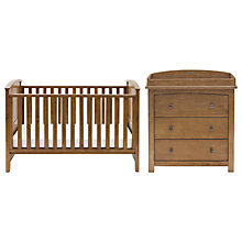 Buy Silver Cross Ashby Dresser and Cotbed Set, Warm Light Walnut Online at johnlewis.com