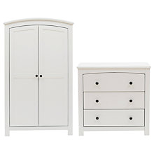 Buy Silver Cross Ashby Style Dresser and Wardrobe Set, Soft Antique White Online at johnlewis.com