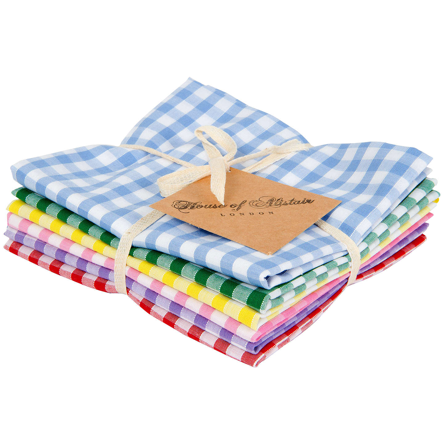 BuyHouse of Alistair Gingham Mix Fat Quarter Fabrics, Pack of 6 Online at johnlewis.com