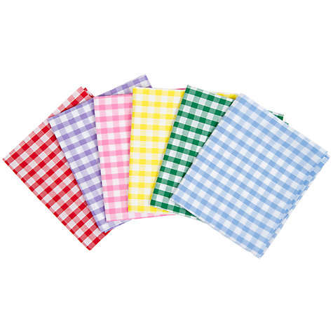 Buy House of Alistair Gingham Mix Fat Quarter Fabrics, Pack of 6 Online at johnlewis.com