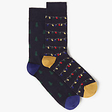 Buy John Lewis Christmas Lights and Tree Socks, One Size, Pack of 2, Navy/Multi Online at johnlewis.com