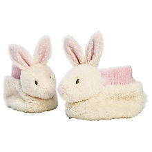 Buy Ragtales Fifi Bunny Baby Booties, One Size, Cream Online at johnlewis.com