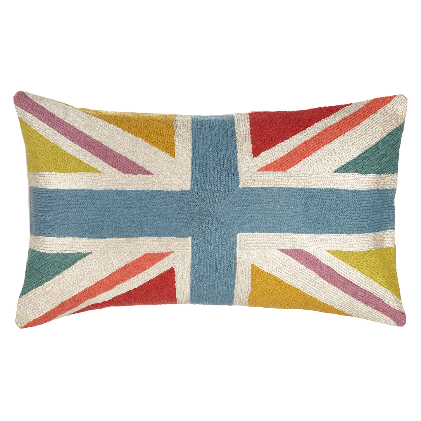Buyjohn Lewis Bright Union Jack Cushion, Multi Online At Johnlewiscom
