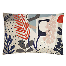 Buy John Lewis Astrid Cushion, Mineral / Flame Online at johnlewis.com