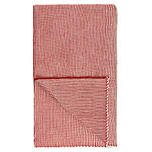 Buy John Lewis Candy Cane Throw, Red / White Online at johnlewis.com