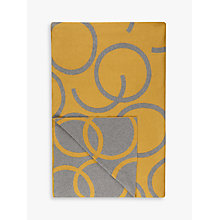Buy House by John Lewis Hula Throw, Mustard Online at johnlewis.com