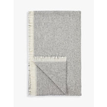 Buy John Lewis Croft Collection Waffle Throw, Grey Online at johnlewis.com