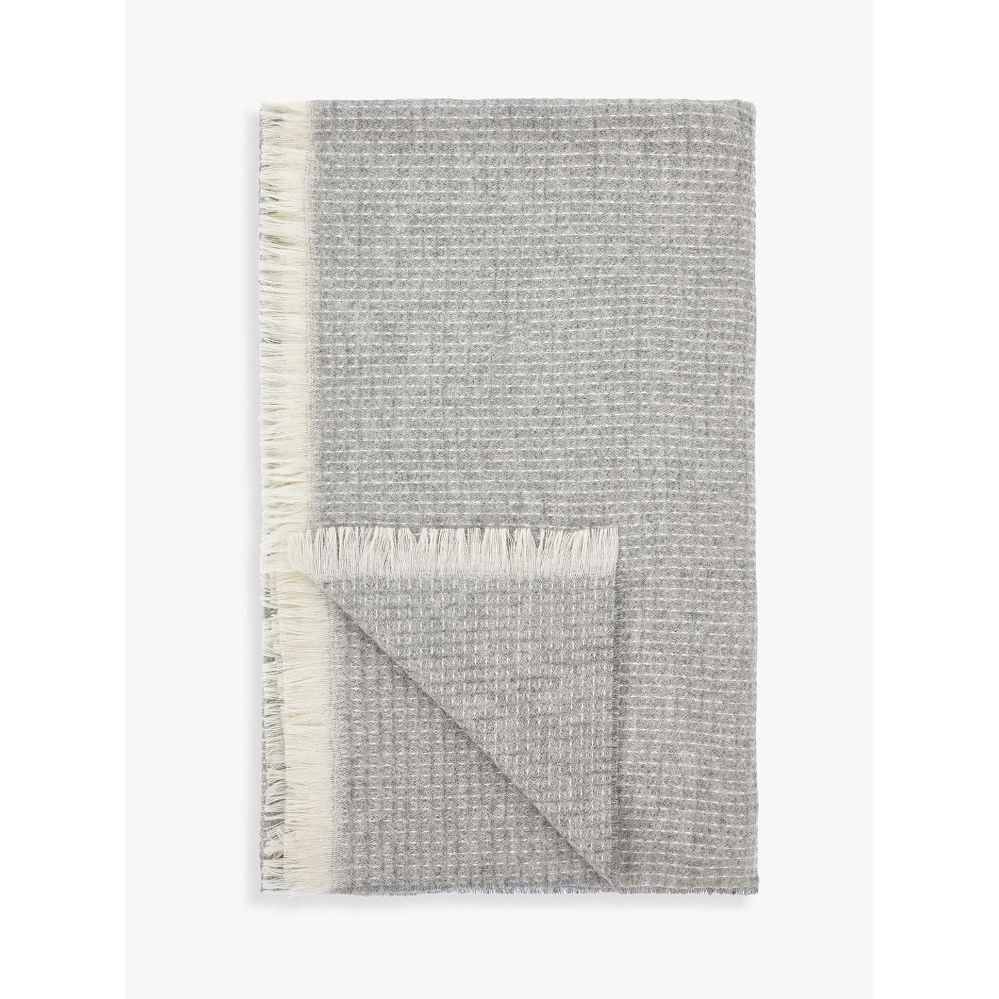 BuyCroft Collection Waffle Throw, Grey Online at johnlewis.com
