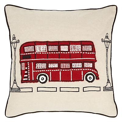 John Lewis London Bus Cushion, Multi