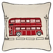Buy John Lewis London Bus Cushion, Multi Online at johnlewis.com