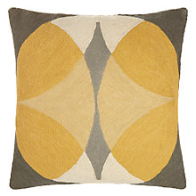Buy John Lewis Oculus Cushion, Citrine / Grey Online at johnlewis.com