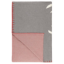 Buy John Lewis Rudolf Throw, Grey / Red Online at johnlewis.com