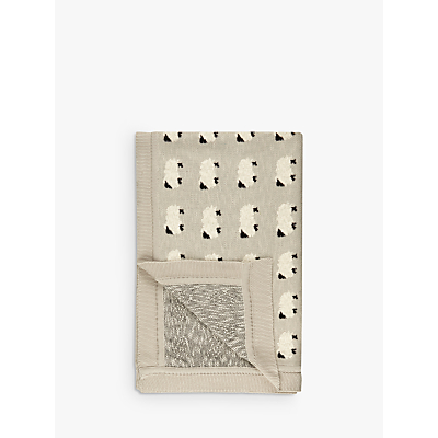 John Lewis Sheep Throw, Grey