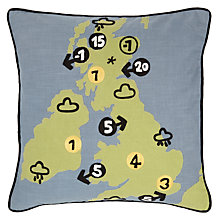 Buy John Lewis Weather Map Cushion, Multi Online at johnlewis.com