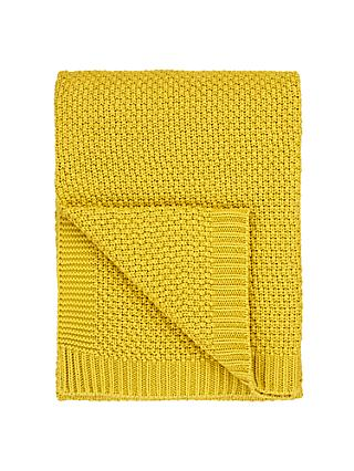 John Lewis & Partners Textured Knitted Throw