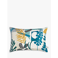 Buy John Lewis Astrid Cushion, Spruce / Mustard Online at johnlewis.com