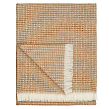 Buy John Lewis Croft Collection Waffle Throw, Natural Online at johnlewis.com