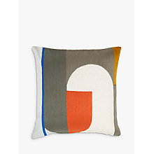 Buy House by John Lewis Circuit Cushion, Chilli Online at johnlewis.com